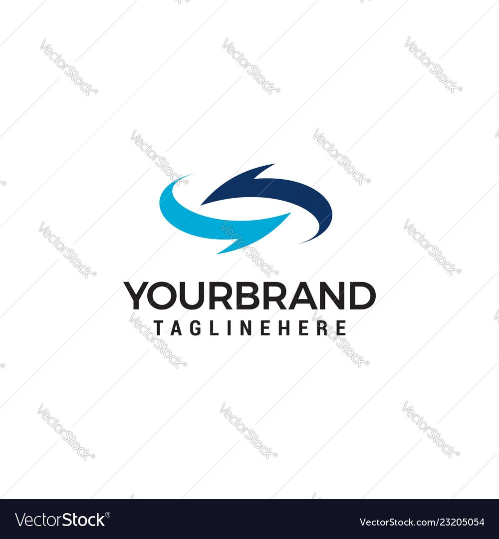 Arrows rotate logo design template