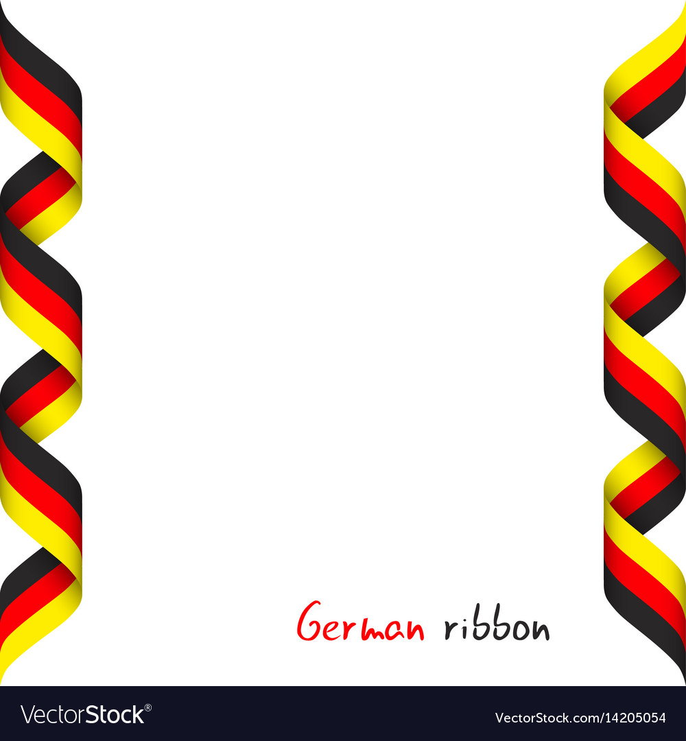 Colored ribbon with the german tricolor