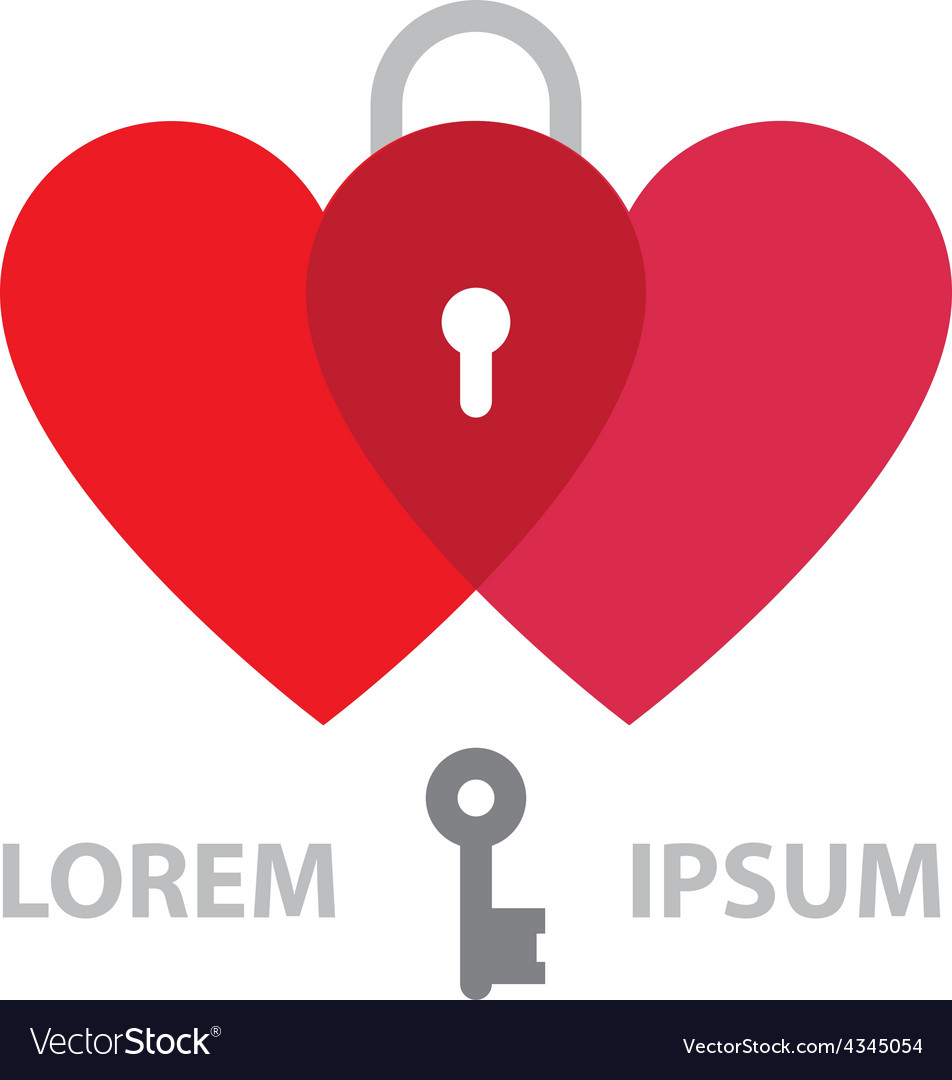 Couple Hearts Logo design template Marriage day vector image