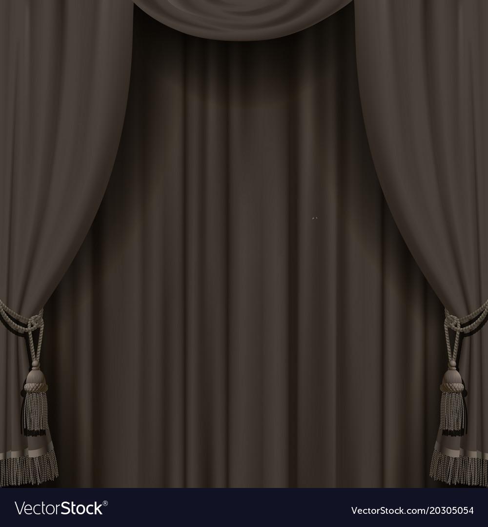 Curtain in dark vintage colors