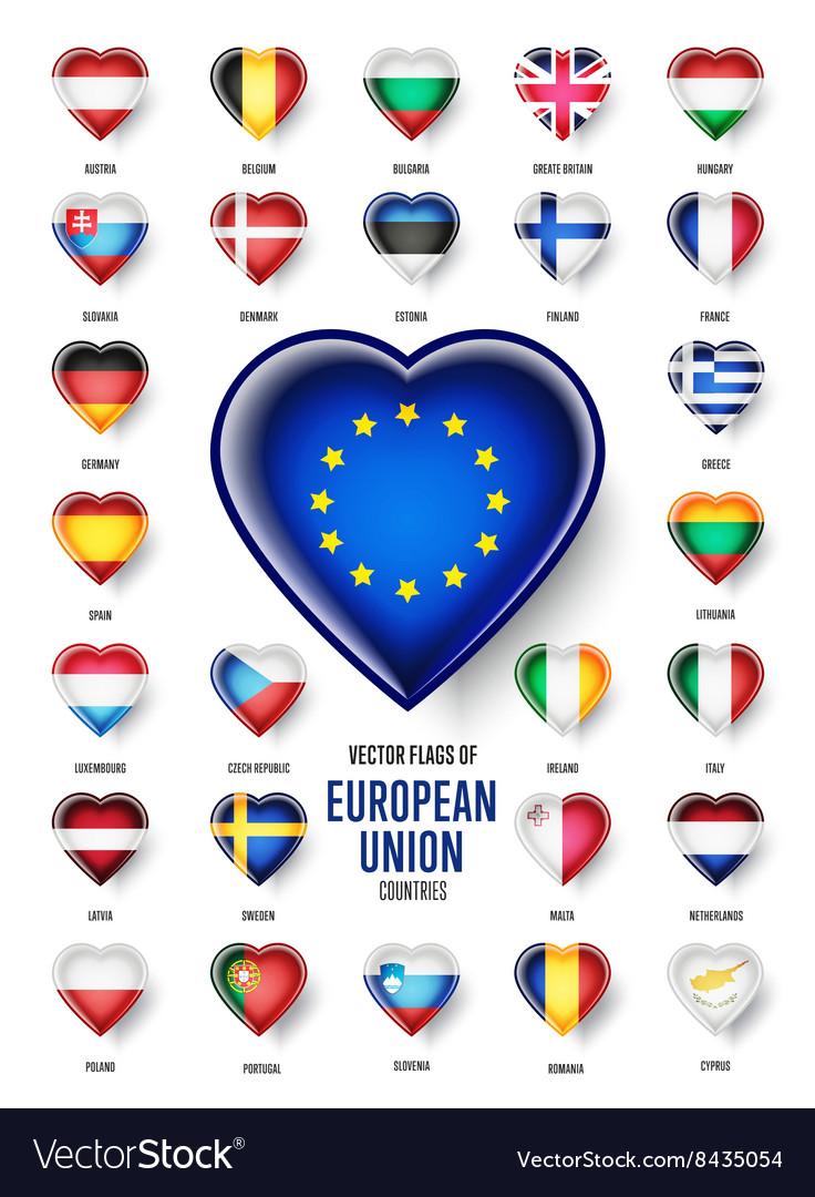 European Union country flags icon