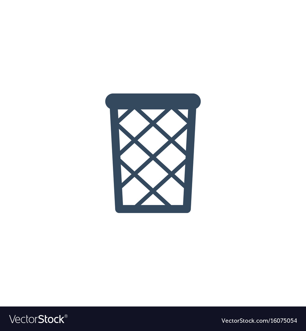 Flat icon wastebasket element