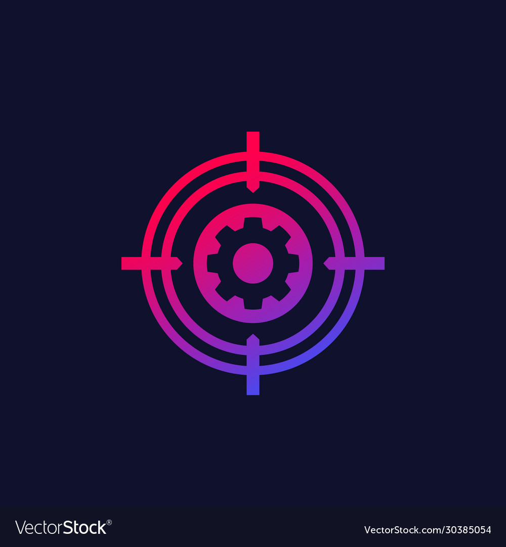 Gear with target icon