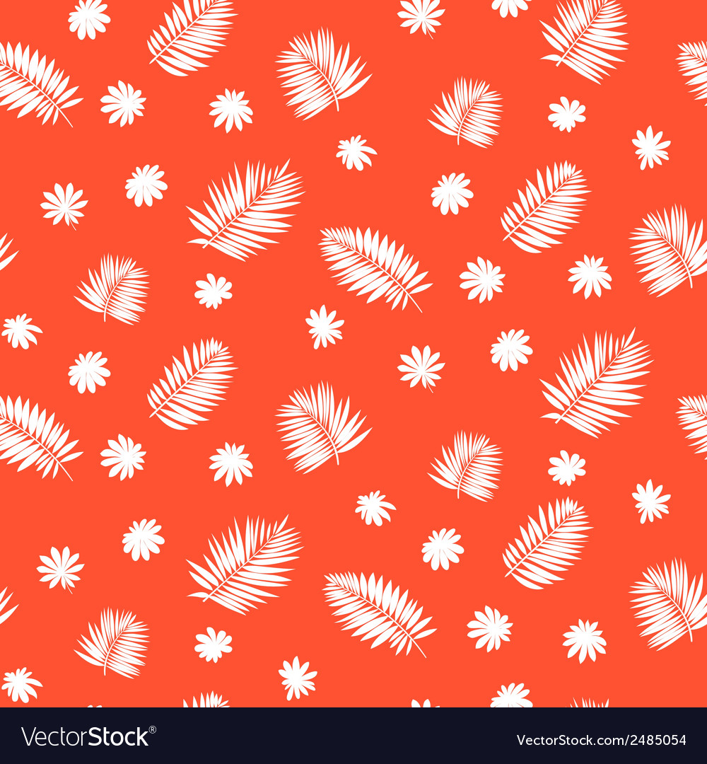 Pattern with palm leafs inspired by tropics nature