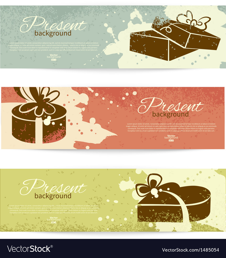 Present backgrounds with gift box