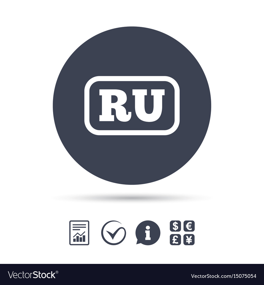 Russian language sign icon ru translation