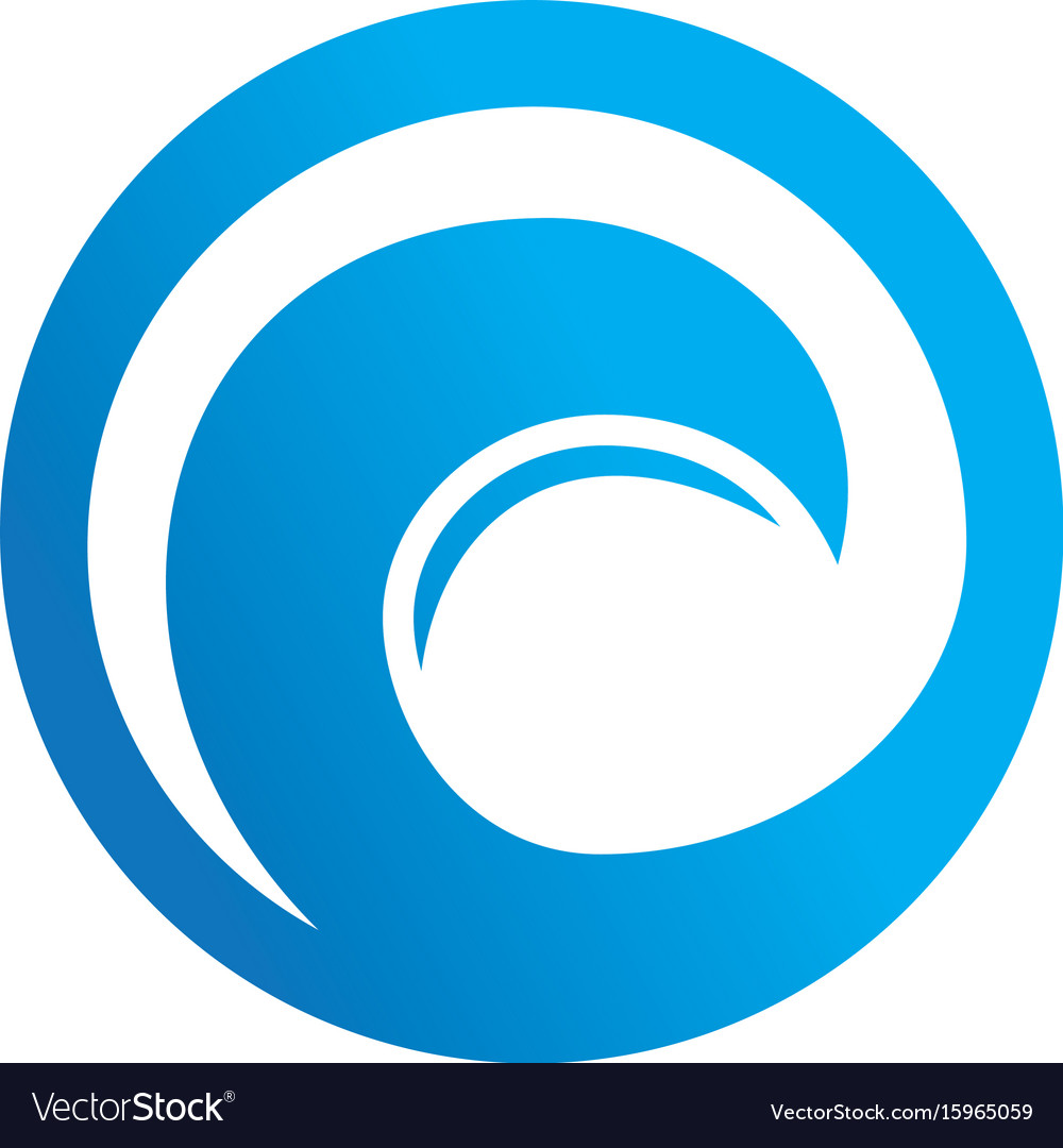 Abstract circle wave logo