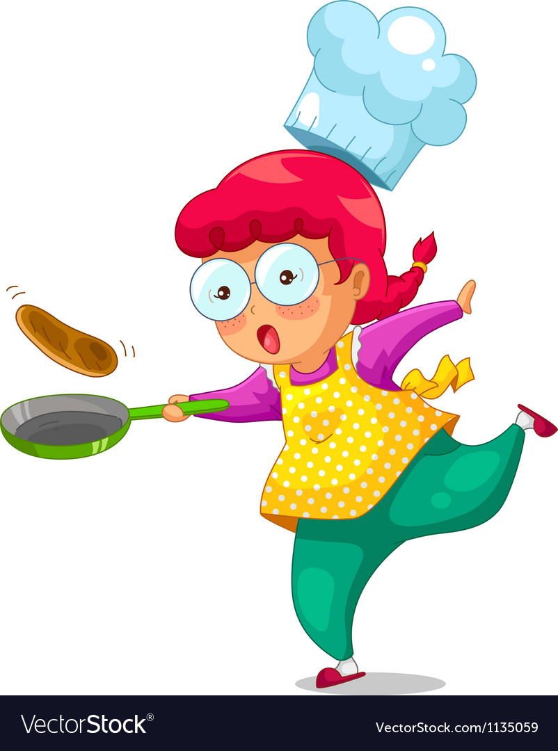 Cooking girl vector image