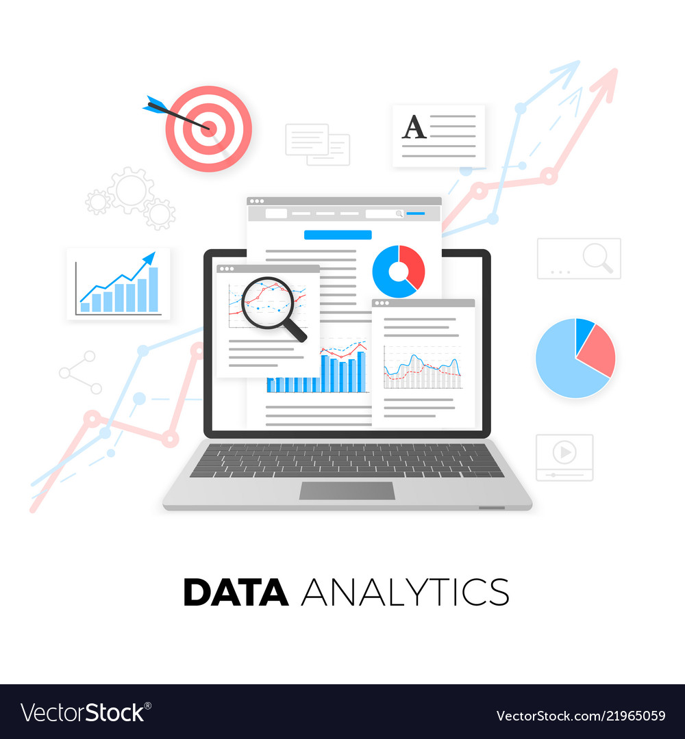 Data analytics concept seo optimization search