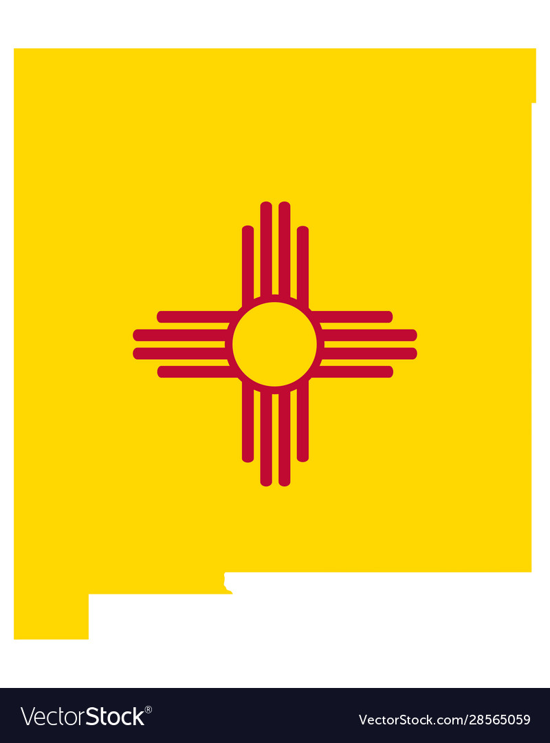 Flag in map new mexico