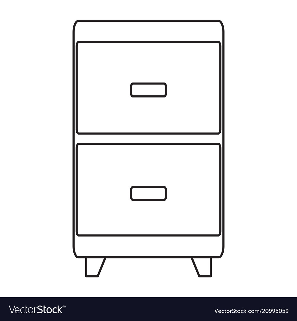 Long drawer line icon