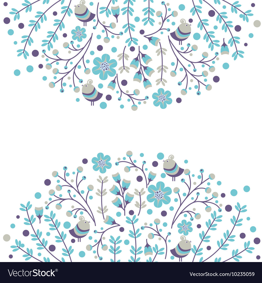 Set of floral frames Cute collection of