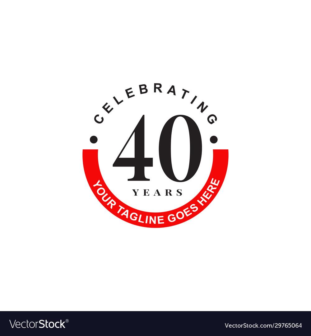 40th year celebrating anniversary emblem logo