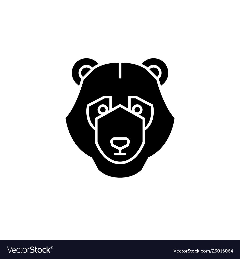 Bear trend black icon sign on isolated