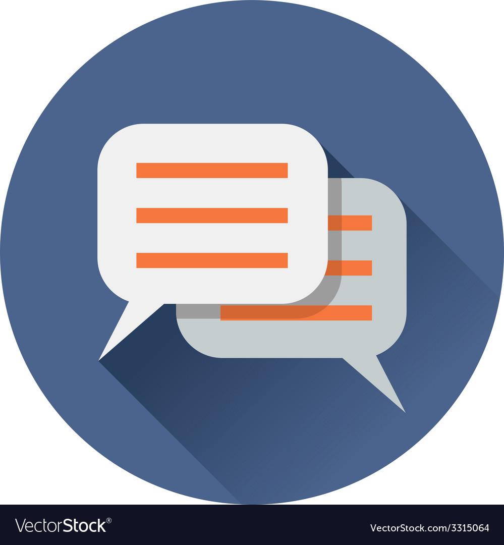 Chat speach bubble icon