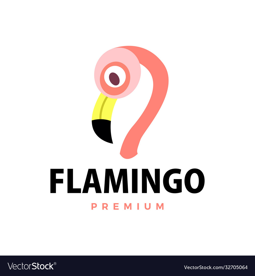 Flamingo flat logo icon