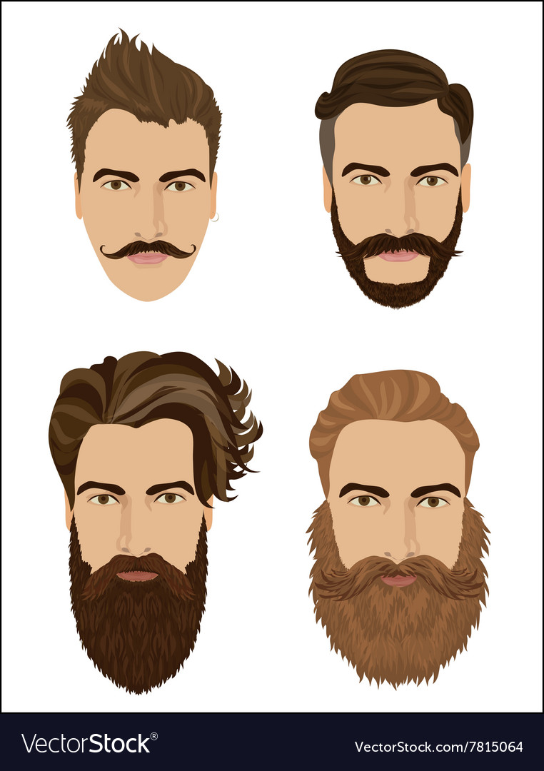 Man hair and beards styles Hipster fashion high