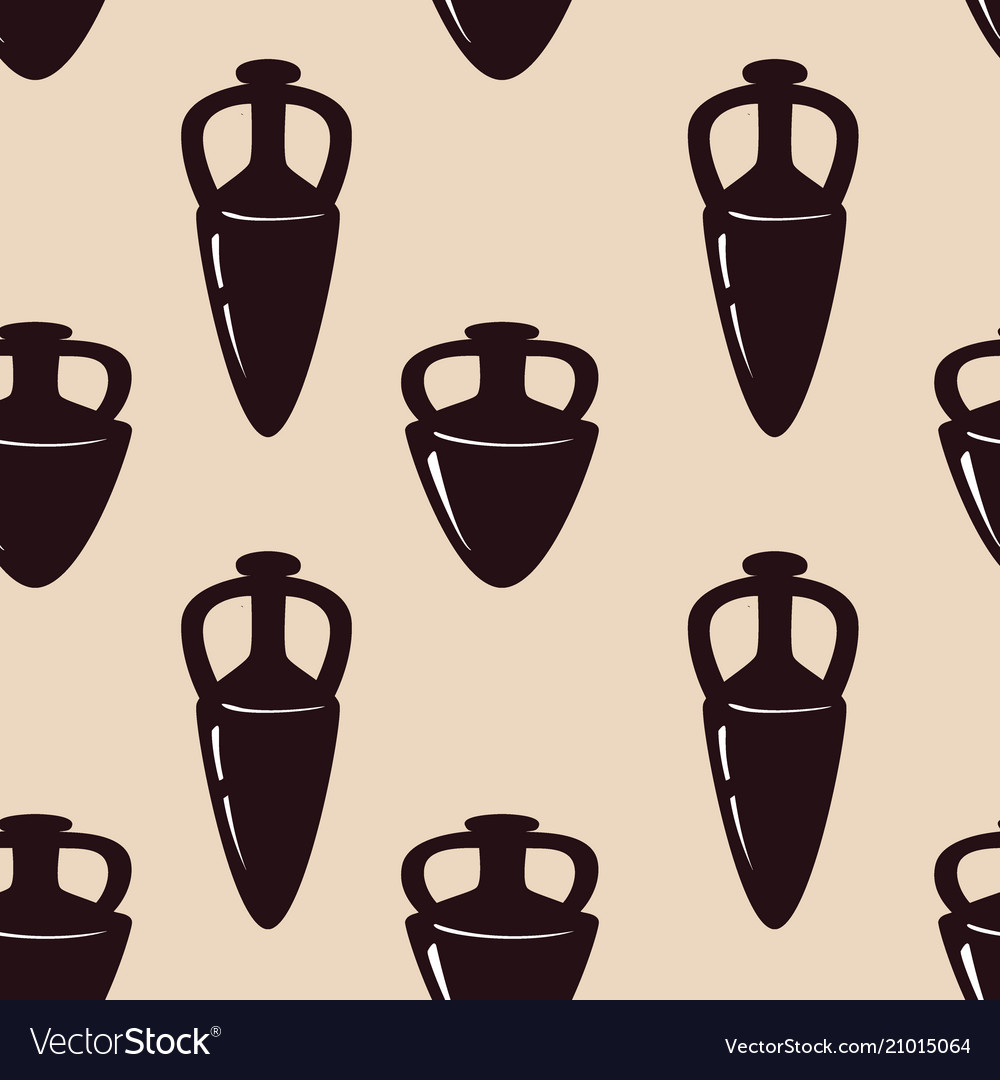 Seamless pattern with antique ceramics