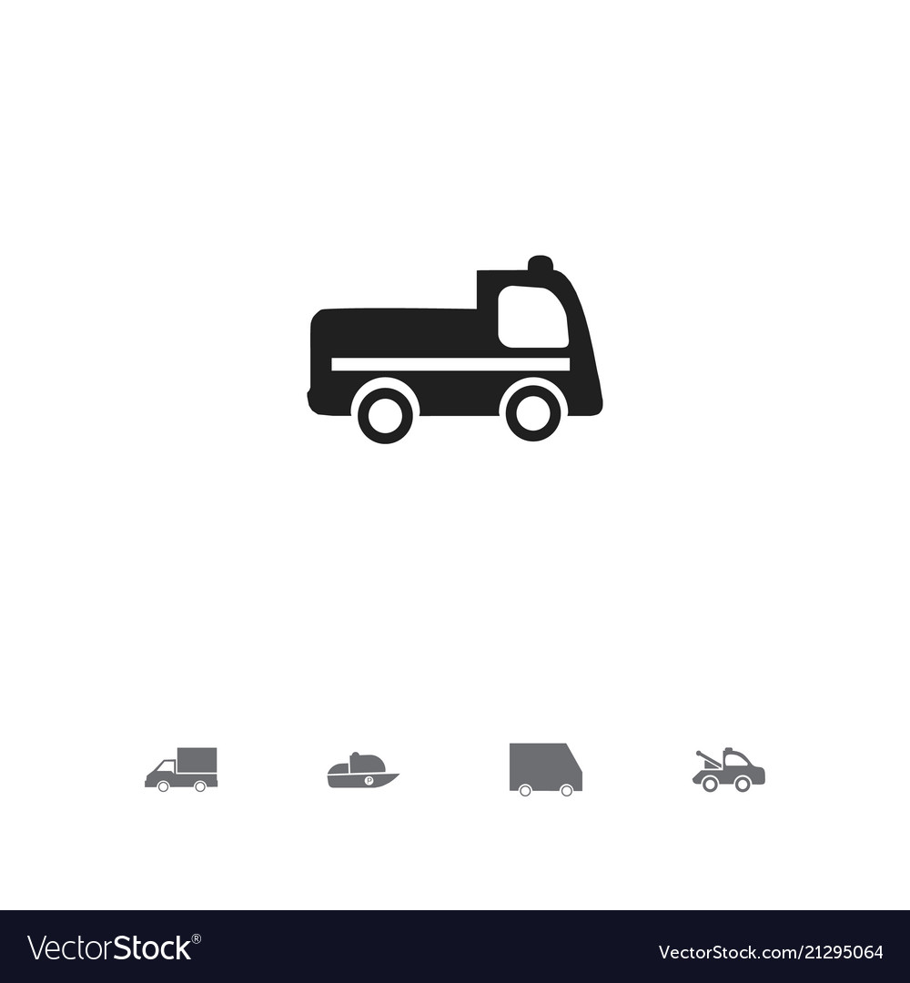 Set of 5 editable transportation icons includes