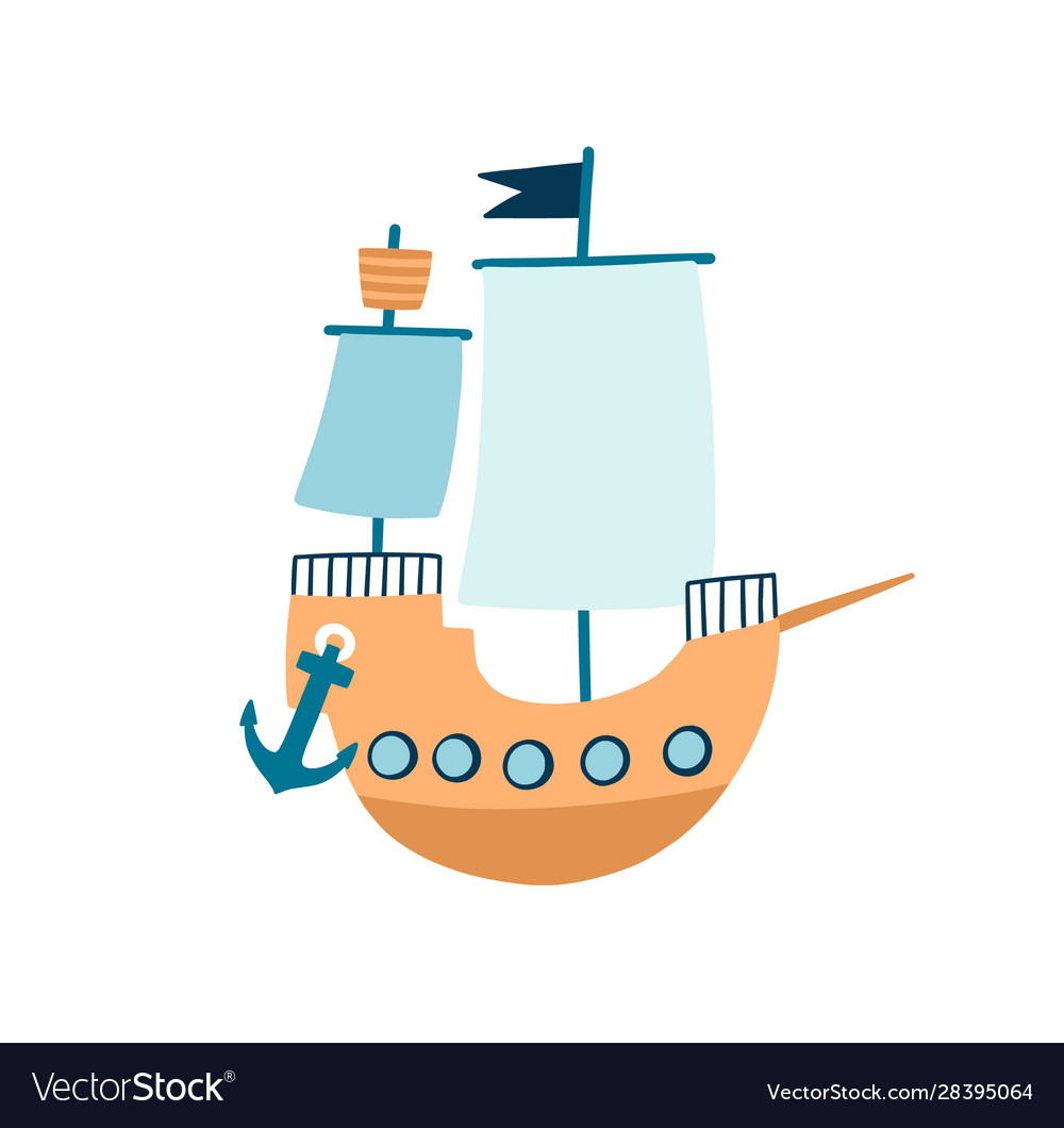 Toy ship flat children