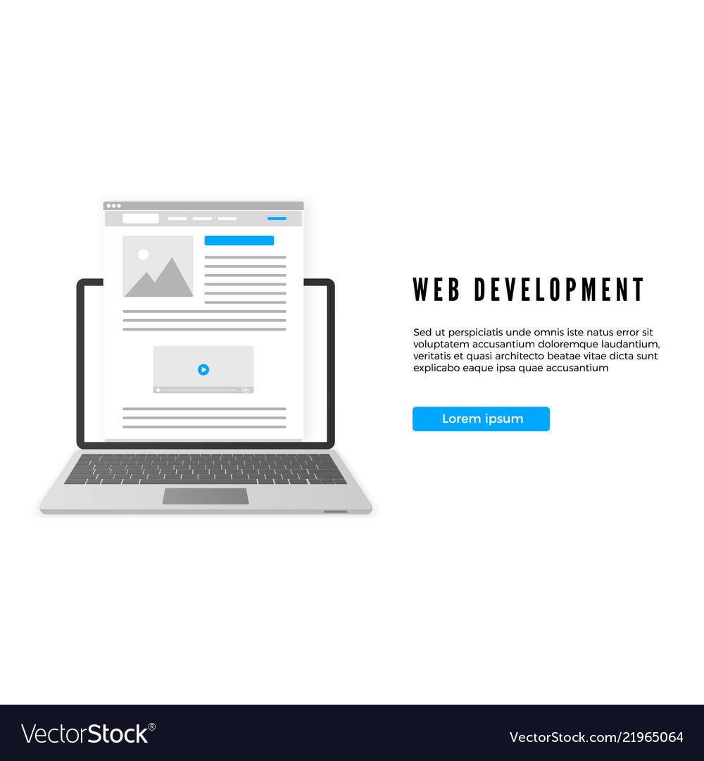 Website development concept website or landing