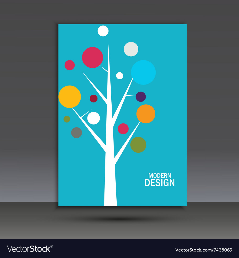 Abstract tree on the cover of brochure
