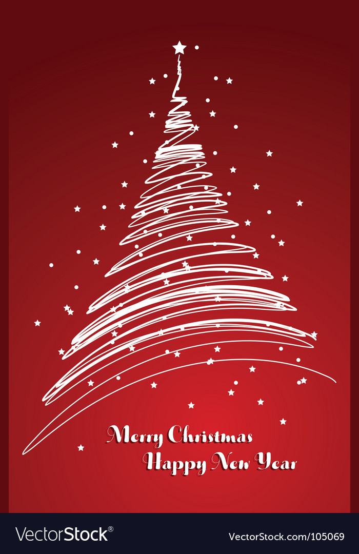 Captivating Christmas Card Background Vector Image