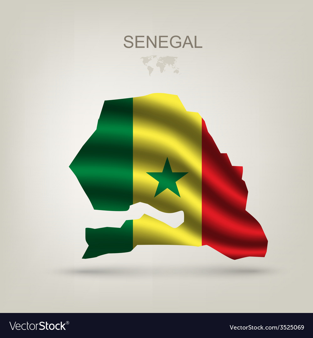 Flag of Senegal as the country