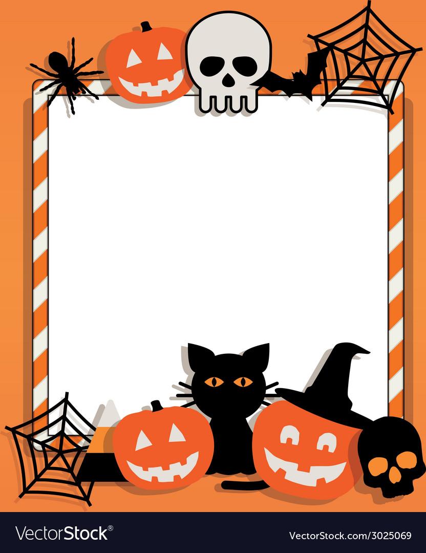 halloween frame royalty free vector image - vectorstock