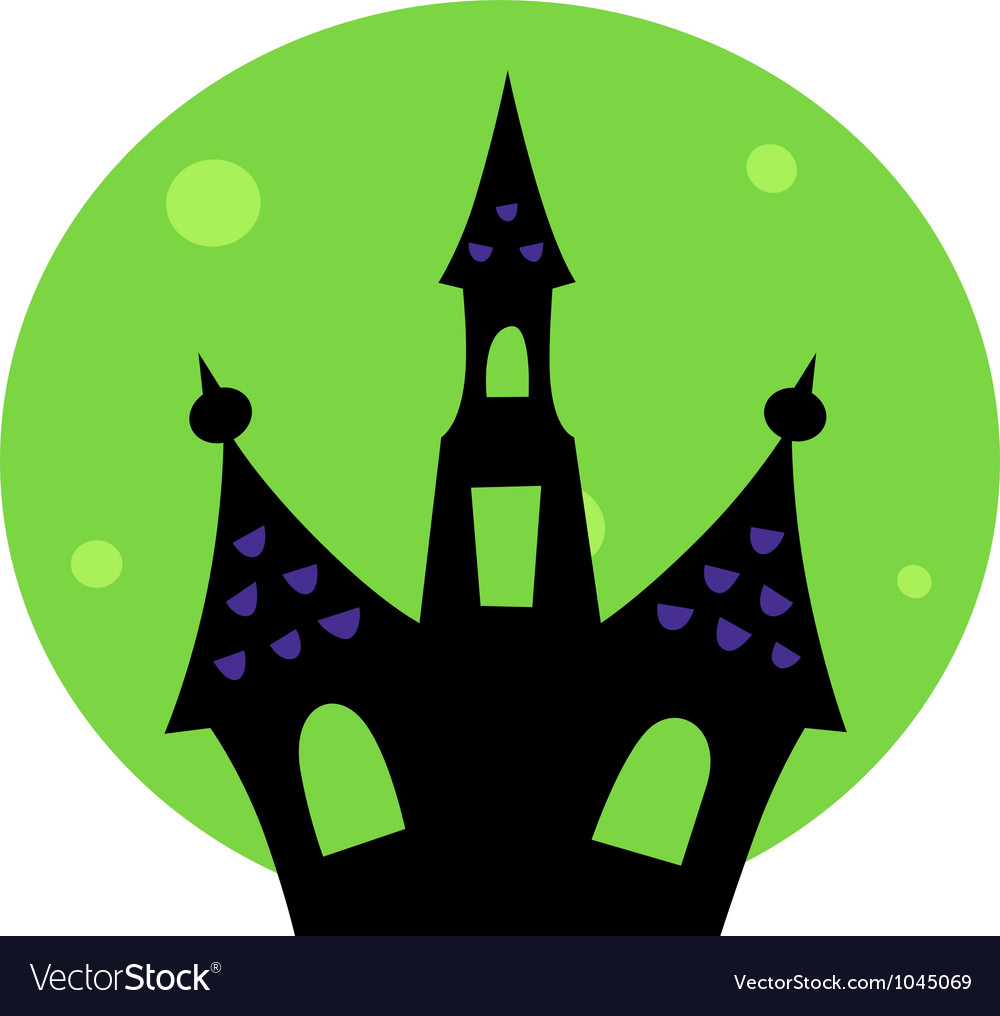 halloween haunted house royalty free vector image rh vectorstock com haunted house vector free download haunted house victoria tx