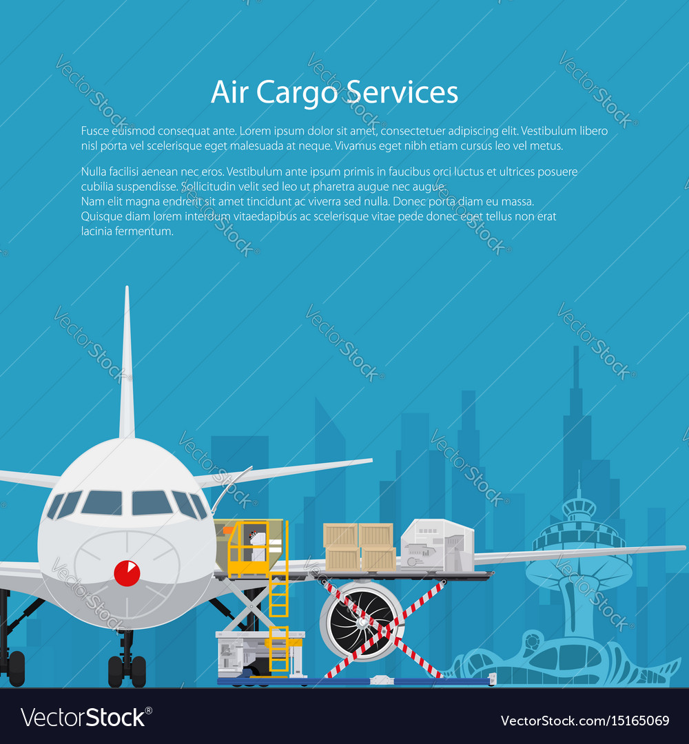 Poster Air Cargo Services Royalty Free Vector Image