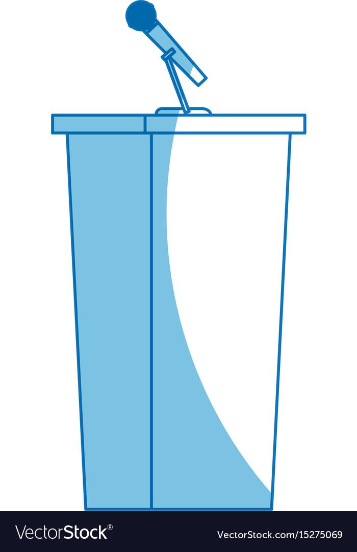 Wooden podium tribune stand rostrum with