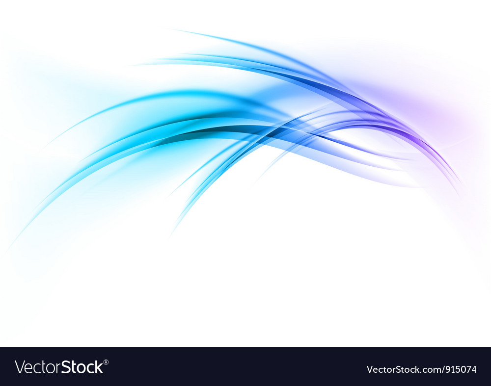 Abstract smoke on white curves blue