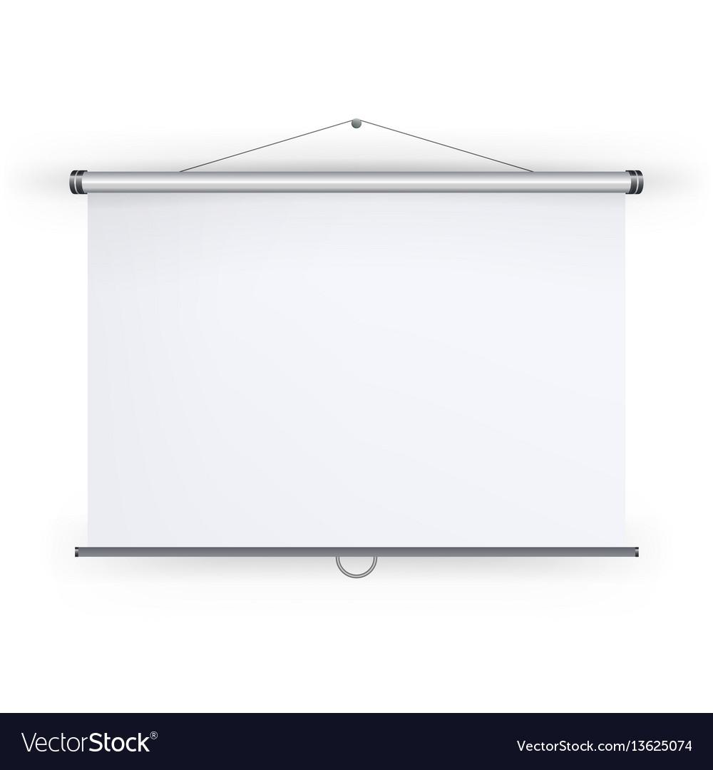 Meeting projector screen blank white board