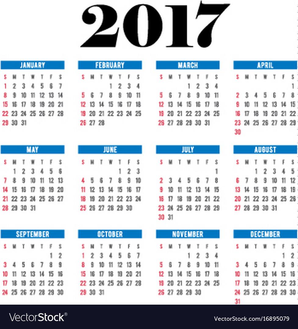 2017 calendar planner template