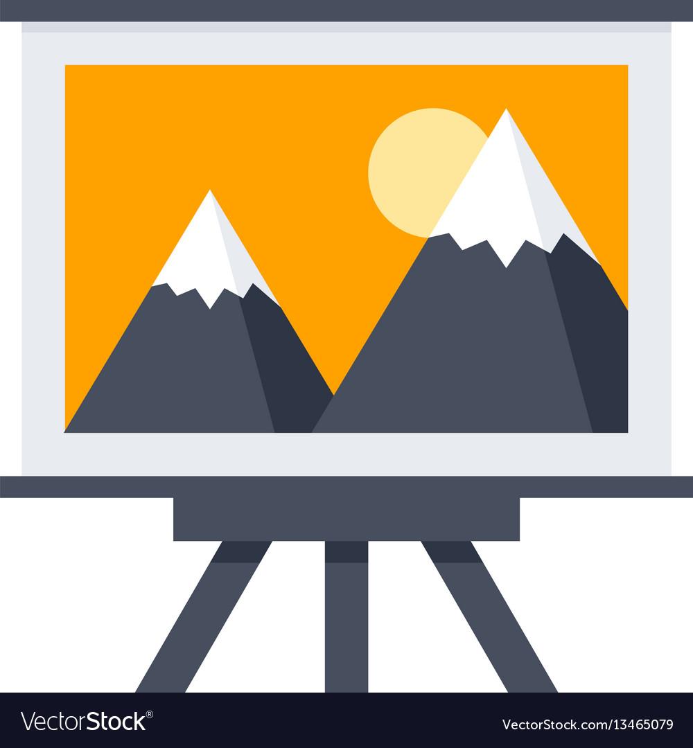 Arts or whiteboard icon