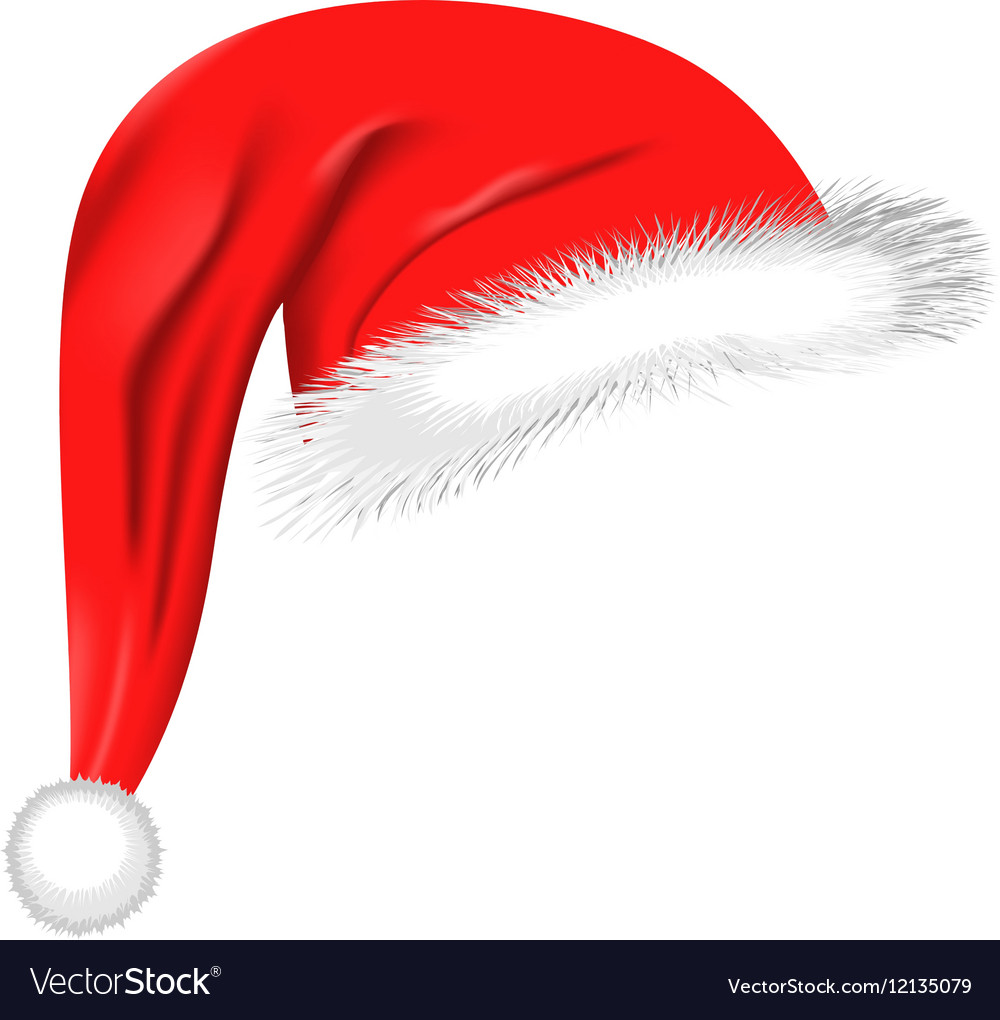Christmas Hat Clipart Free.Cartoon Santa Hat Isolated On White