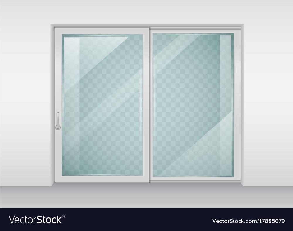 Contemporary sliding door vector image