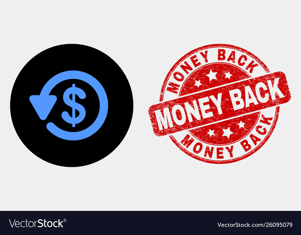 Dollar refund icon and distress money back