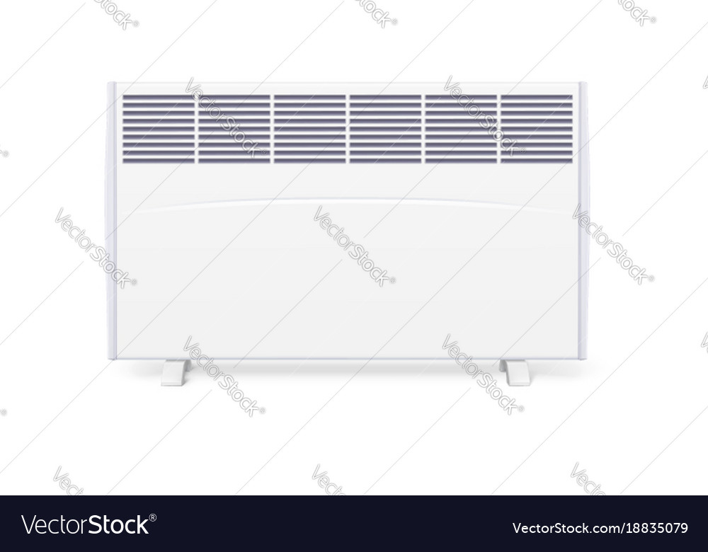 Domestic electric heater icon of home con