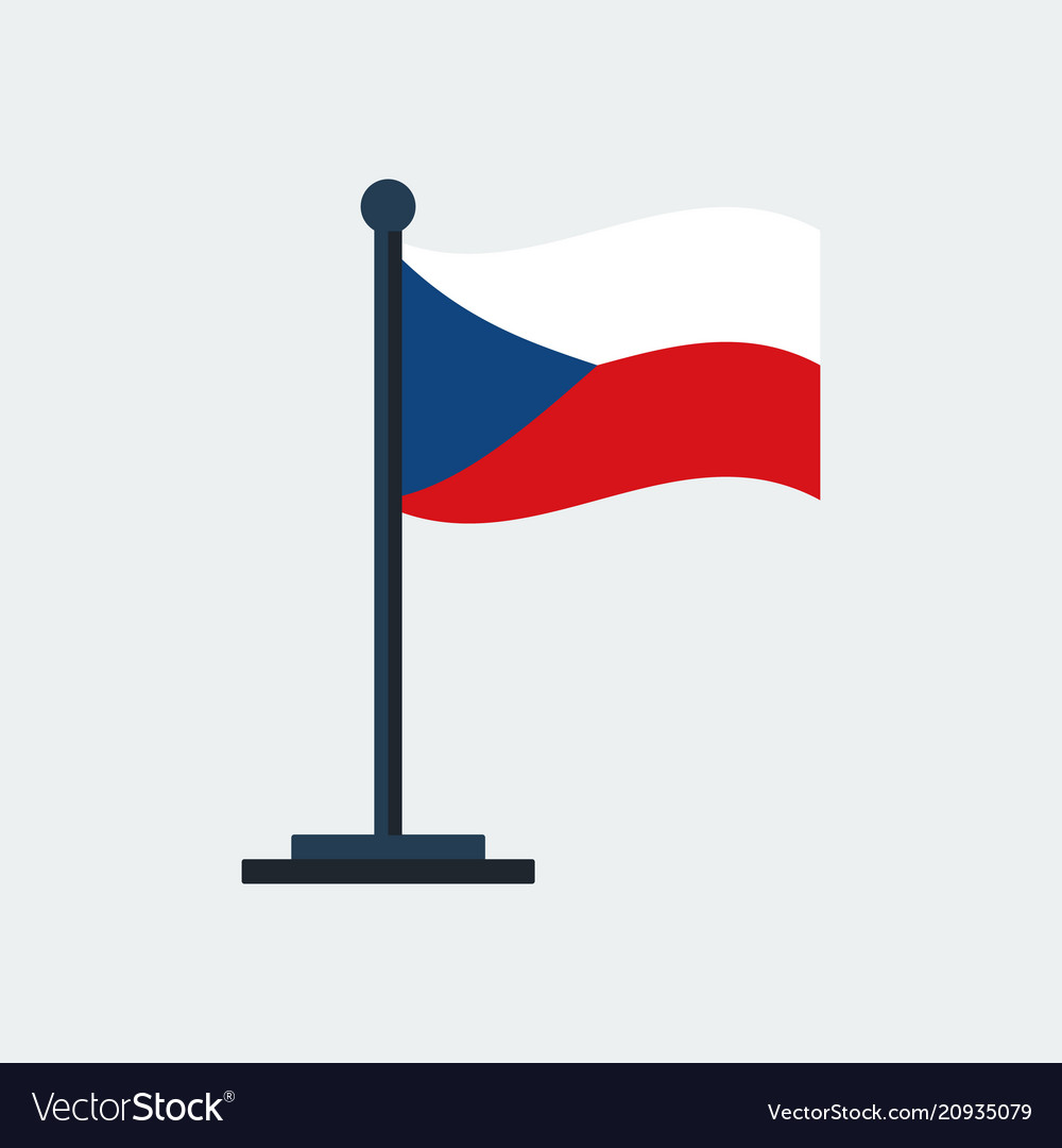 Flag of czech-republicflag stand