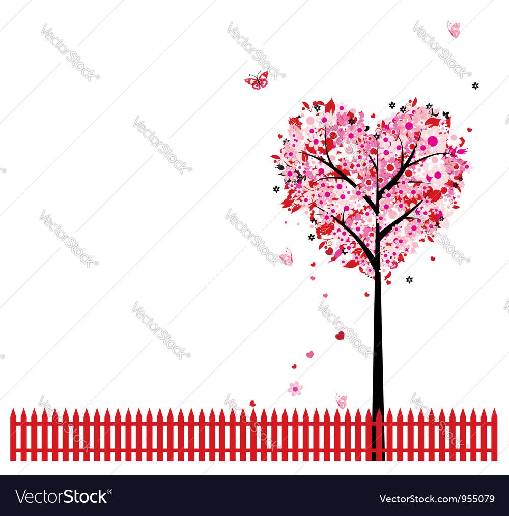 Heart Shape Tree Background