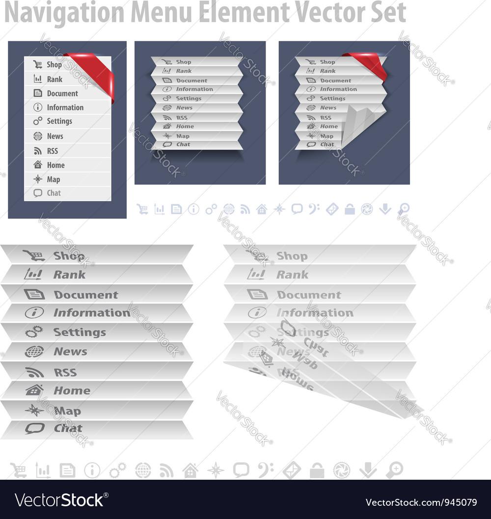 Nav Menu vector image