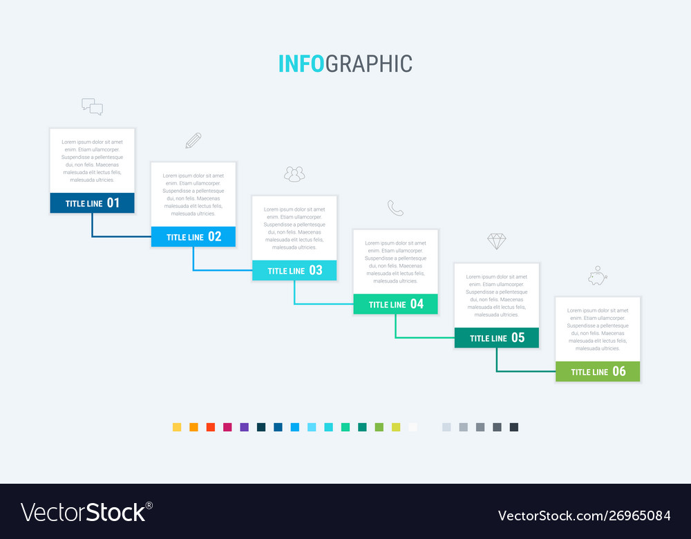 Abstract business modular infographic template