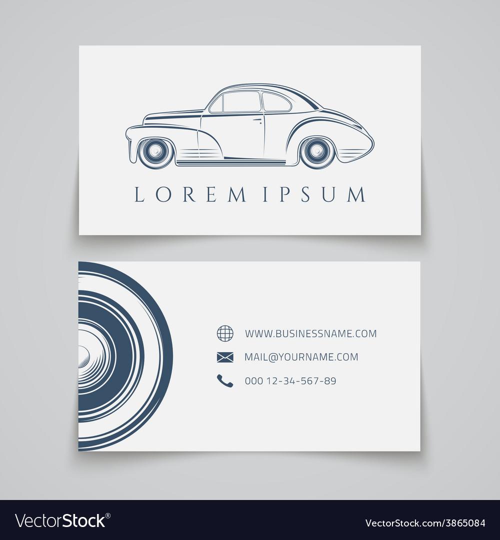 Business card template Classic car logo