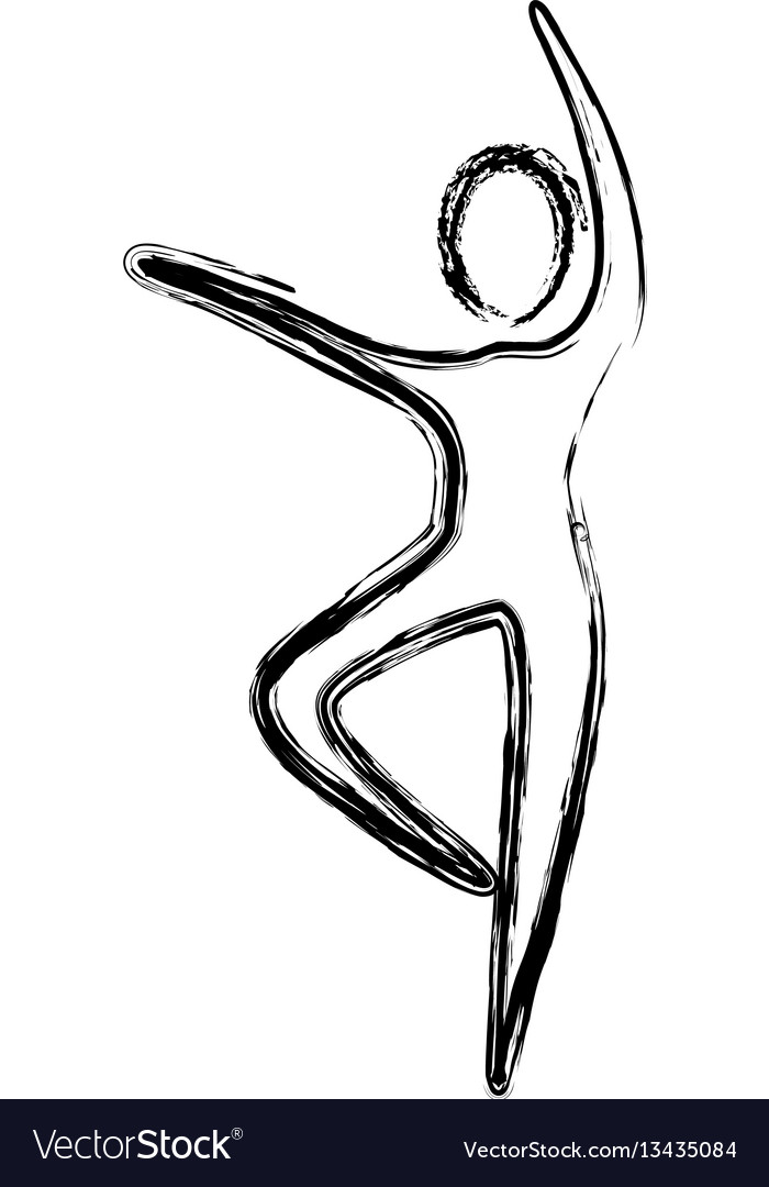 Contour person dancing icon vector image