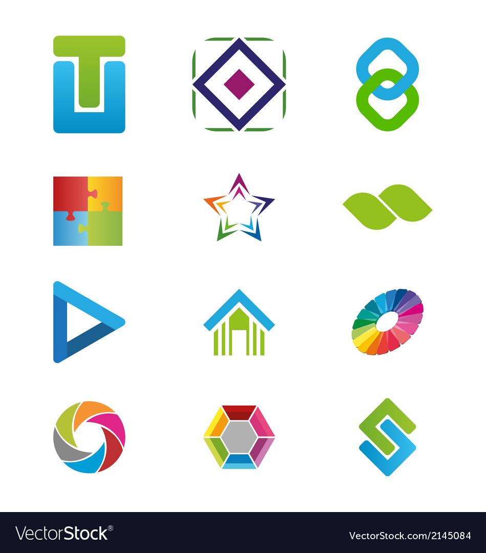 Creative logo elements vector image