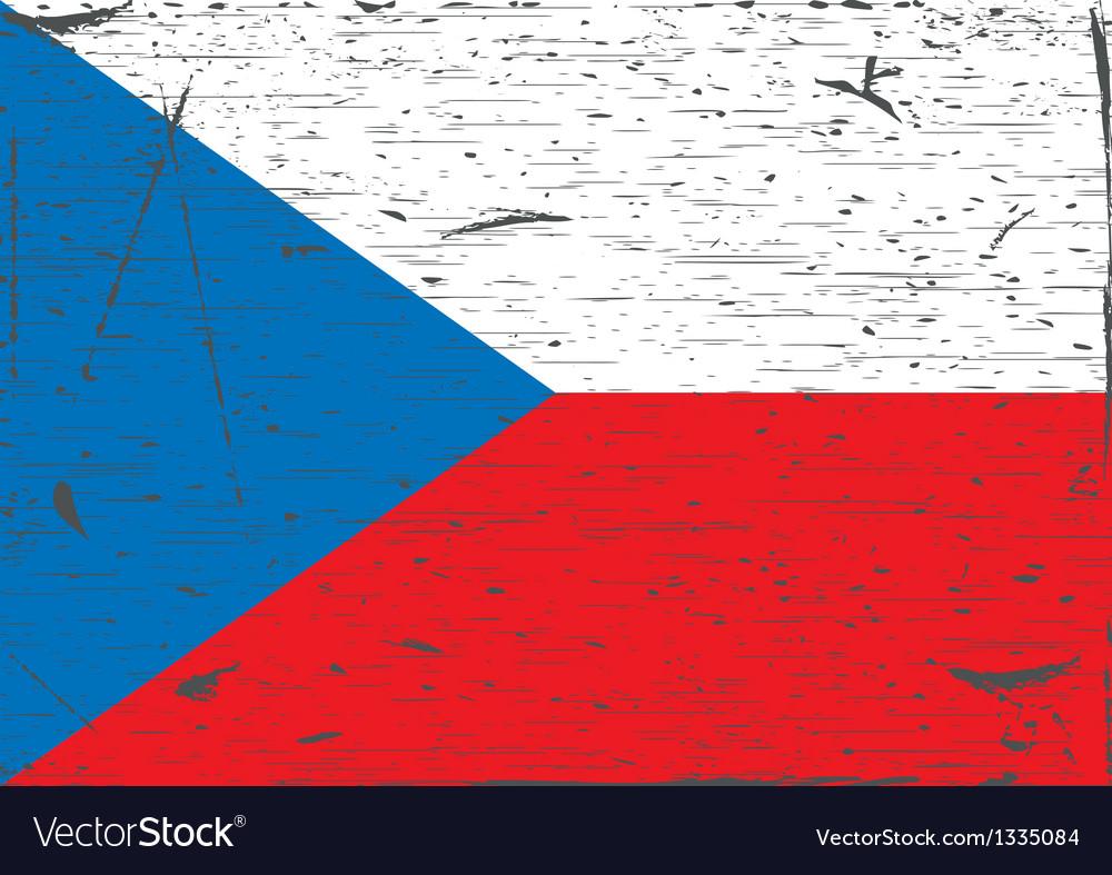Czech flag grunge vector image