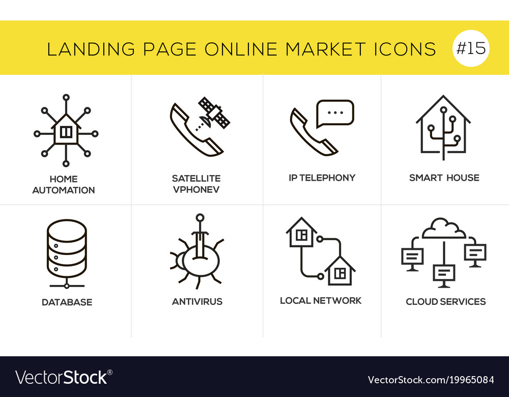 Flat line design concept icons for online shopping