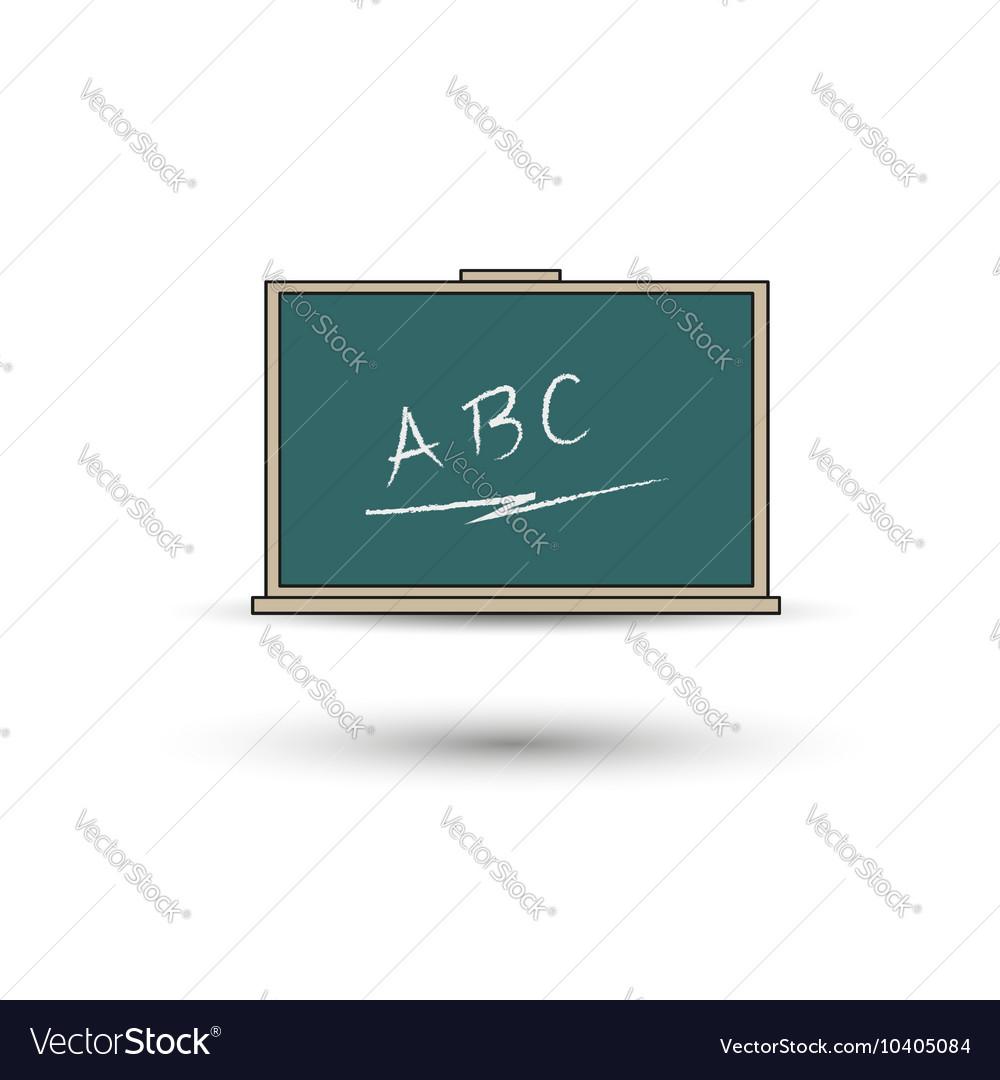 Green chalkboard eps 10 vector image